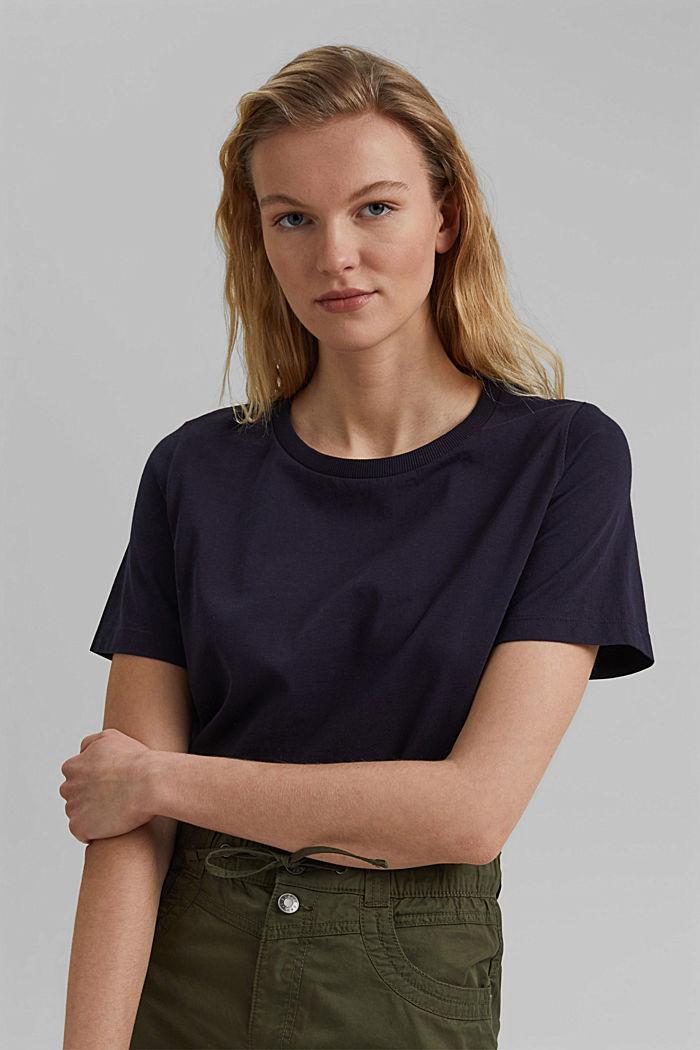 Basic T-Shirt aus 100% Organic Cotton, NAVY, detail image number 5