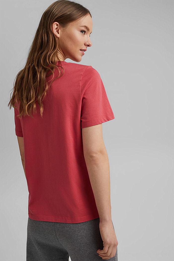 Basic T-Shirt aus 100% Organic Cotton, BLUSH, detail image number 3