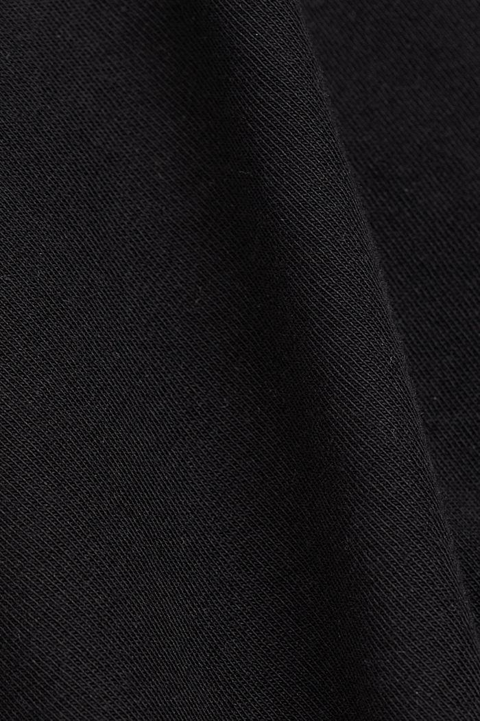 V-Neck-T-Shirt aus 100% Bio-Baumwolle, BLACK, detail image number 4