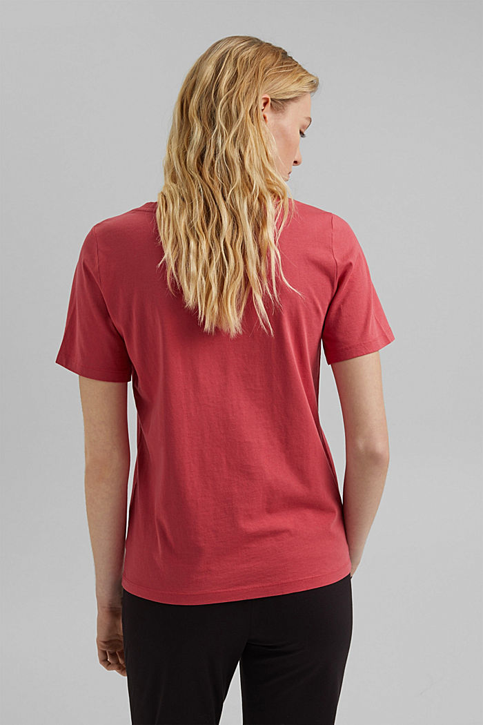 V-neck T-shirt in 100% organic cotton, BLUSH, detail image number 3