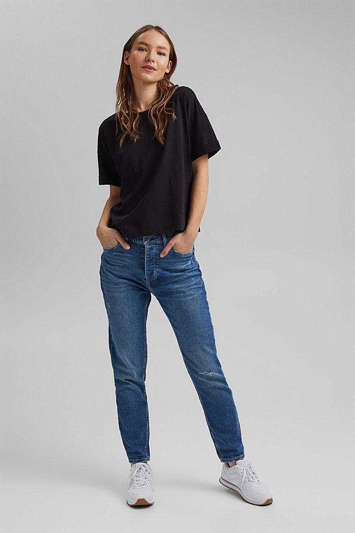 Basic T-shirt made of 100% organic cotton, BLACK, detail image number 1