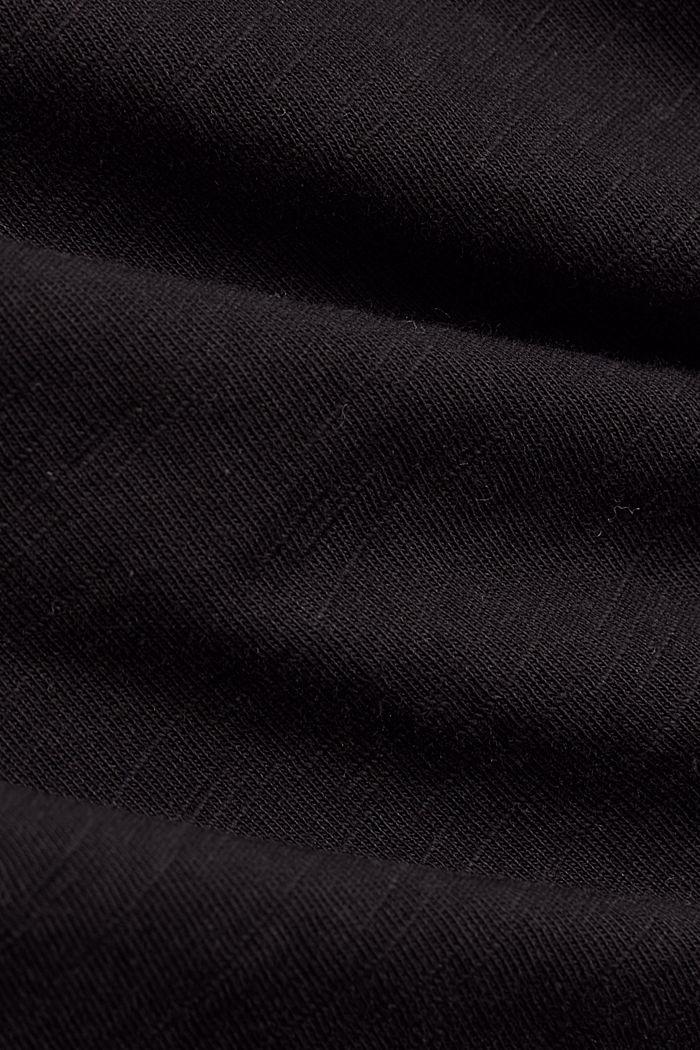 Basic T-shirt made of 100% organic cotton, BLACK, detail image number 4