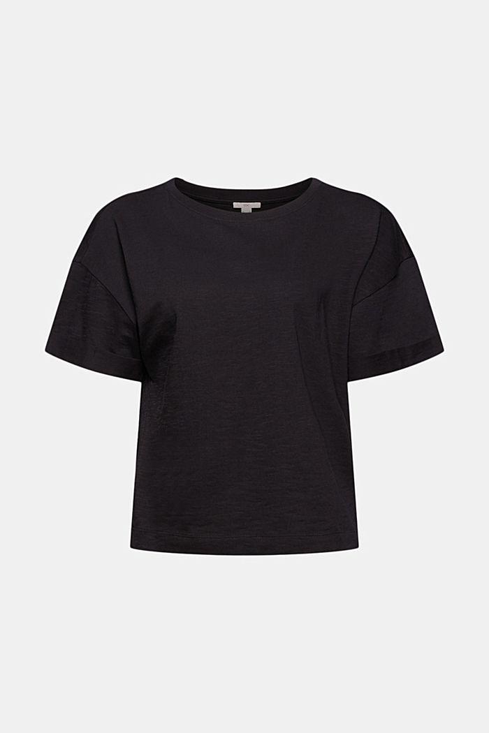 Basic T-shirt made of 100% organic cotton, BLACK, detail image number 5