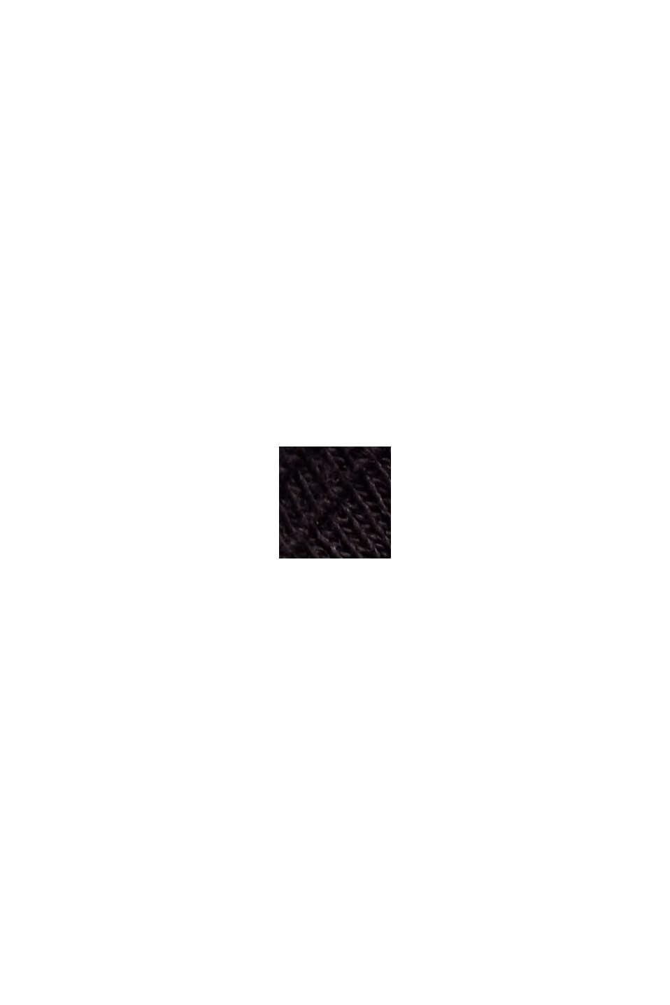 Basic T-shirt made of 100% organic cotton, BLACK, swatch