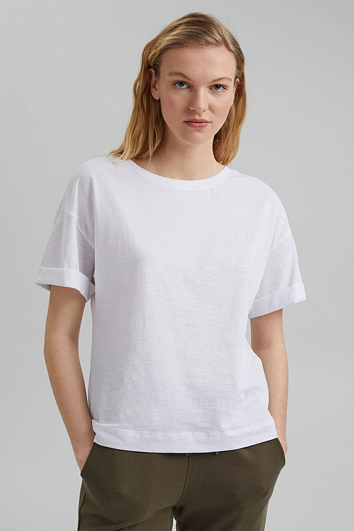 Basic T-Shirt aus 100% Organic Cotton, WHITE, detail image number 0