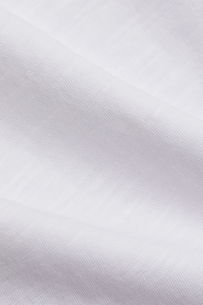Basic T-Shirt aus 100% Organic Cotton, WHITE, detail image number 4