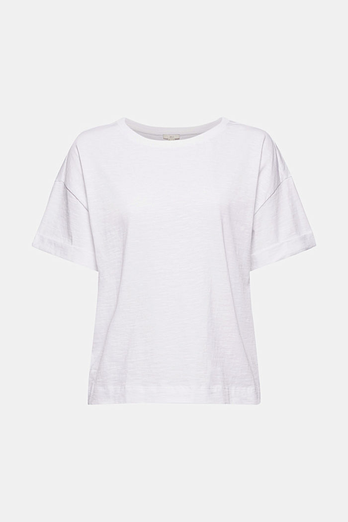 Basic T-Shirt aus 100% Organic Cotton, WHITE, detail image number 6