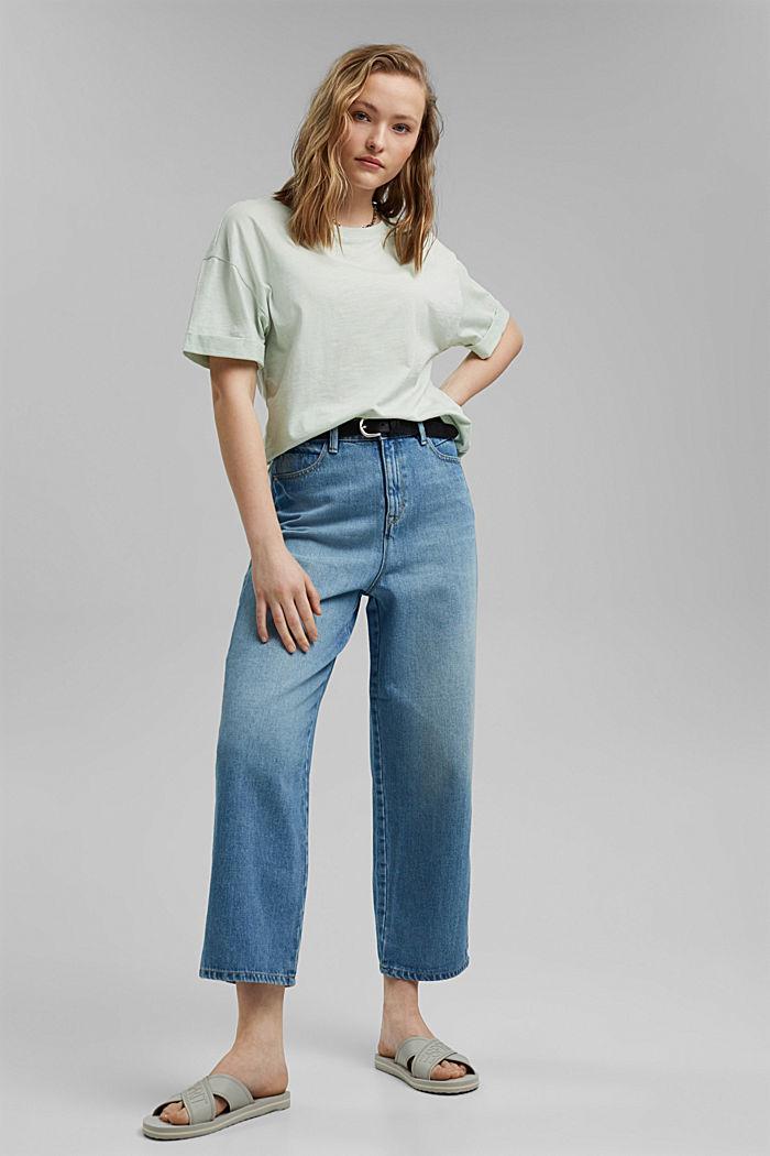 Basic T-shirt made of 100% organic cotton, PASTEL GREEN, detail image number 1