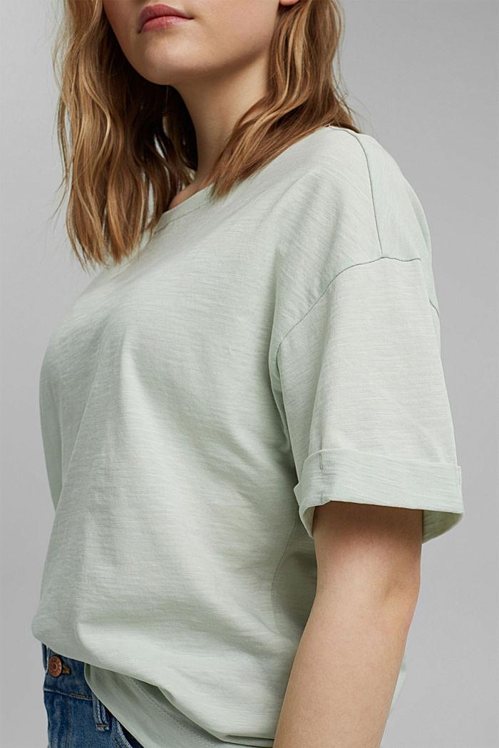 Basic T-shirt made of 100% organic cotton, PASTEL GREEN, detail image number 2
