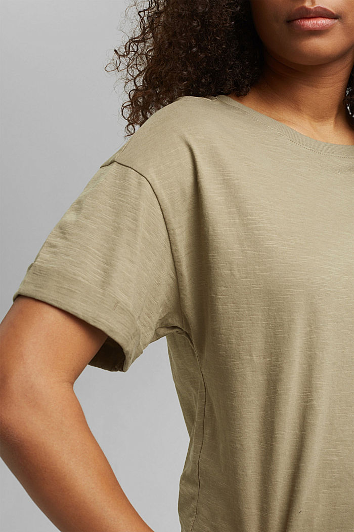 Basic T-shirt made of 100% organic cotton, LIGHT KHAKI, detail image number 2