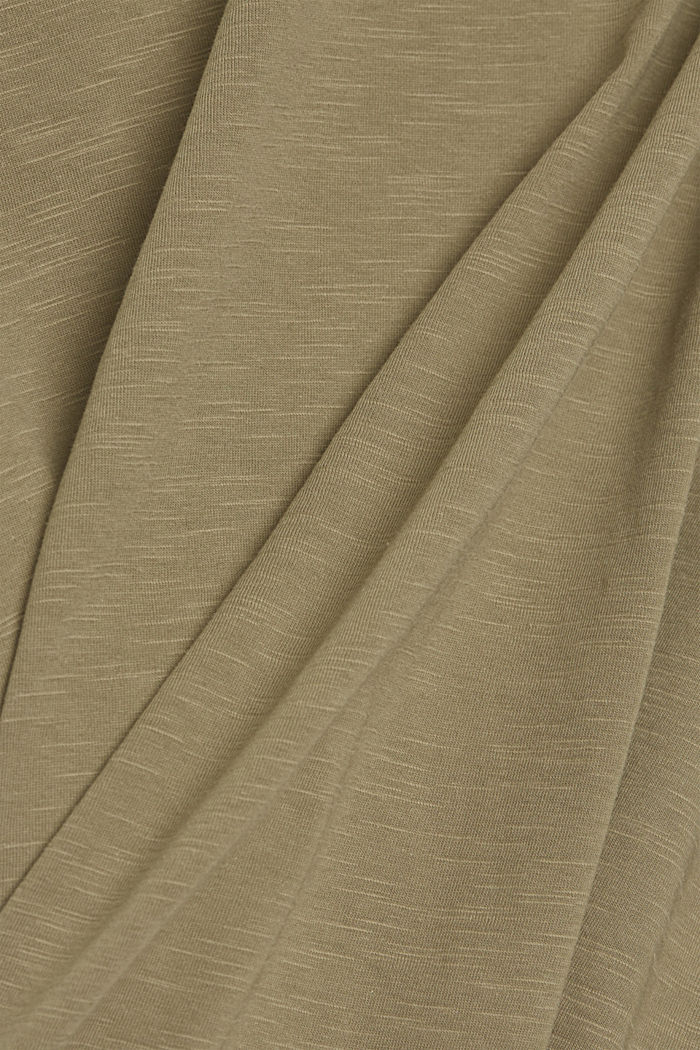 Basic T-shirt made of 100% organic cotton, LIGHT KHAKI, detail image number 4