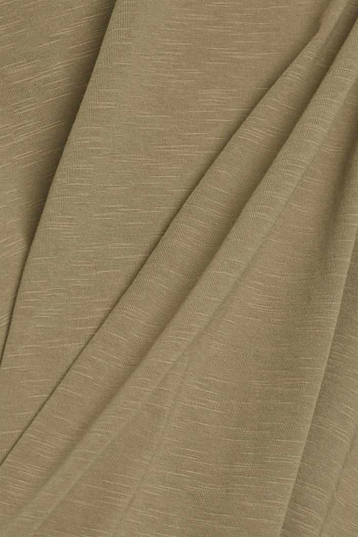 Basic T-Shirt aus 100% Organic Cotton, LIGHT KHAKI, detail image number 4