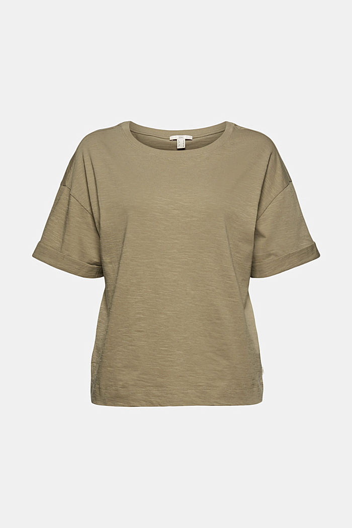 Basic T-shirt made of 100% organic cotton, LIGHT KHAKI, detail image number 6