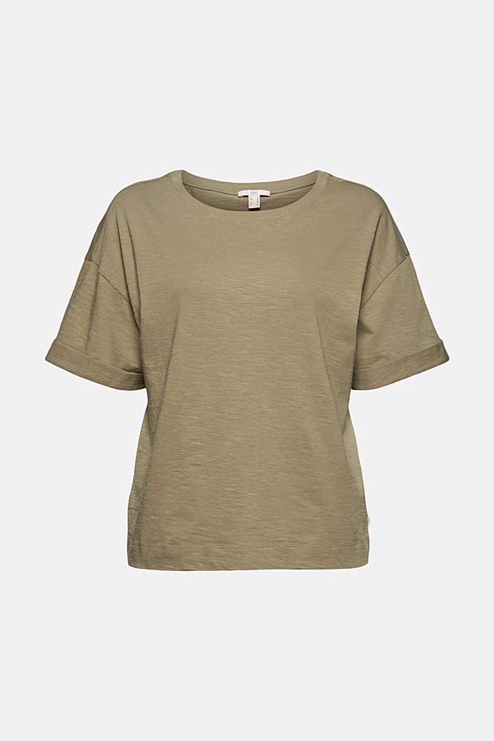 Basic T-Shirt aus 100% Organic Cotton, LIGHT KHAKI, detail image number 6