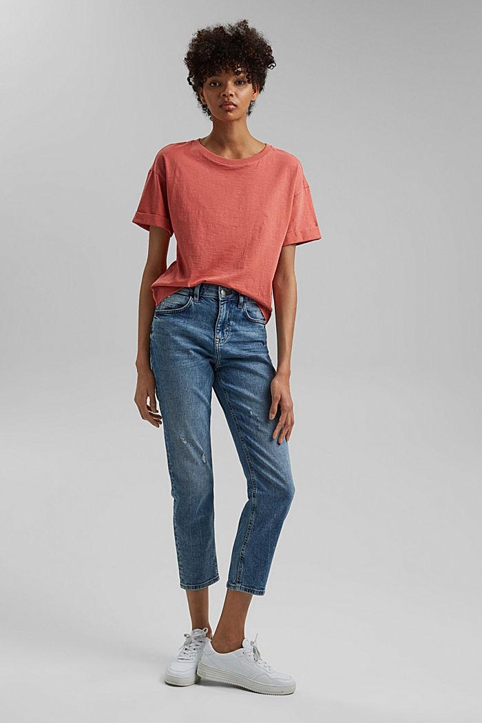 Basic T-shirt made of 100% organic cotton, CORAL, detail image number 1