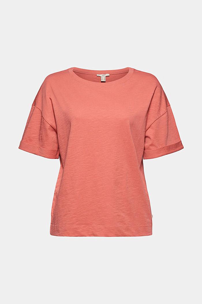 Basic T-shirt made of 100% organic cotton, CORAL, detail image number 6