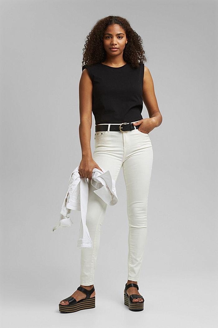 Shirt mit Schulterpolstern, 100% Bio-Baumwolle, BLACK, detail image number 1