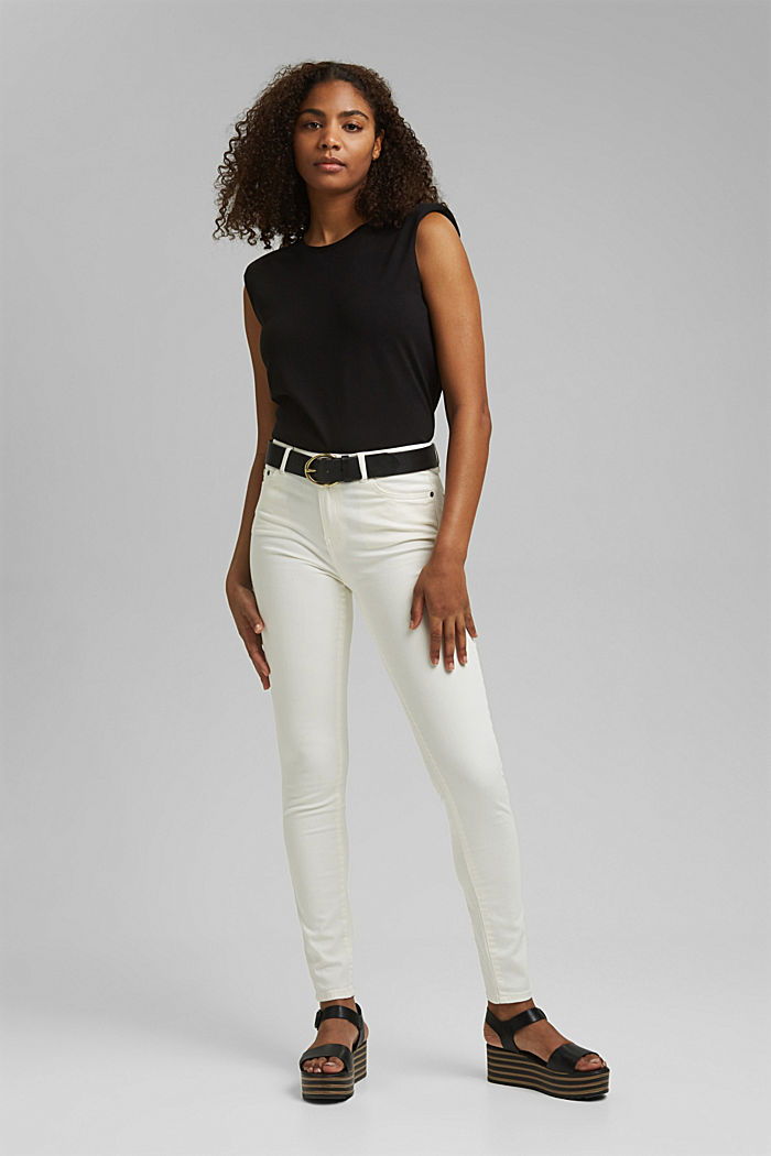 Shirt mit Schulterpolstern, 100% Bio-Baumwolle, BLACK, detail image number 5