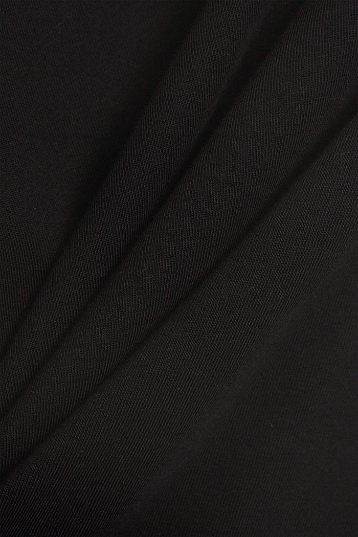 Shirt mit Schulterpolstern, 100% Bio-Baumwolle, BLACK, detail image number 4