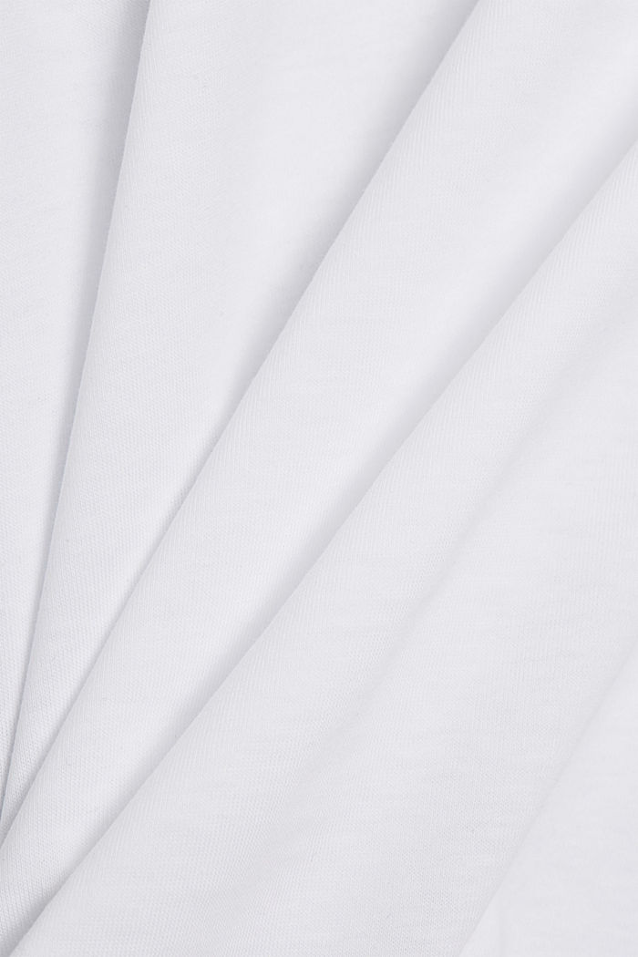 Shirt with shoulder pads, 100% organic cotton, WHITE, detail image number 4