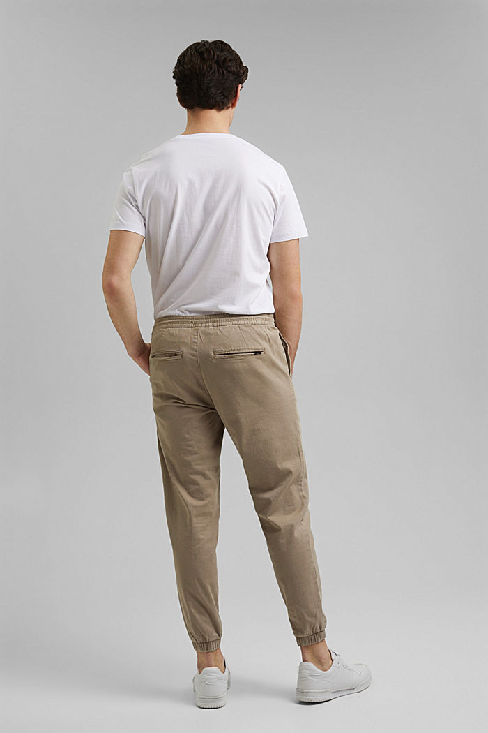 Jogg-Chino aus Organic Cotton, LIGHT BEIGE, detail image number 3