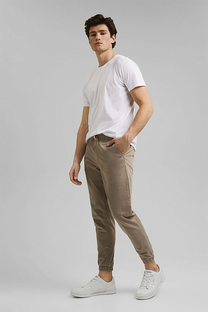 Jogg-Chino aus Organic Cotton, LIGHT BEIGE, detail image number 8