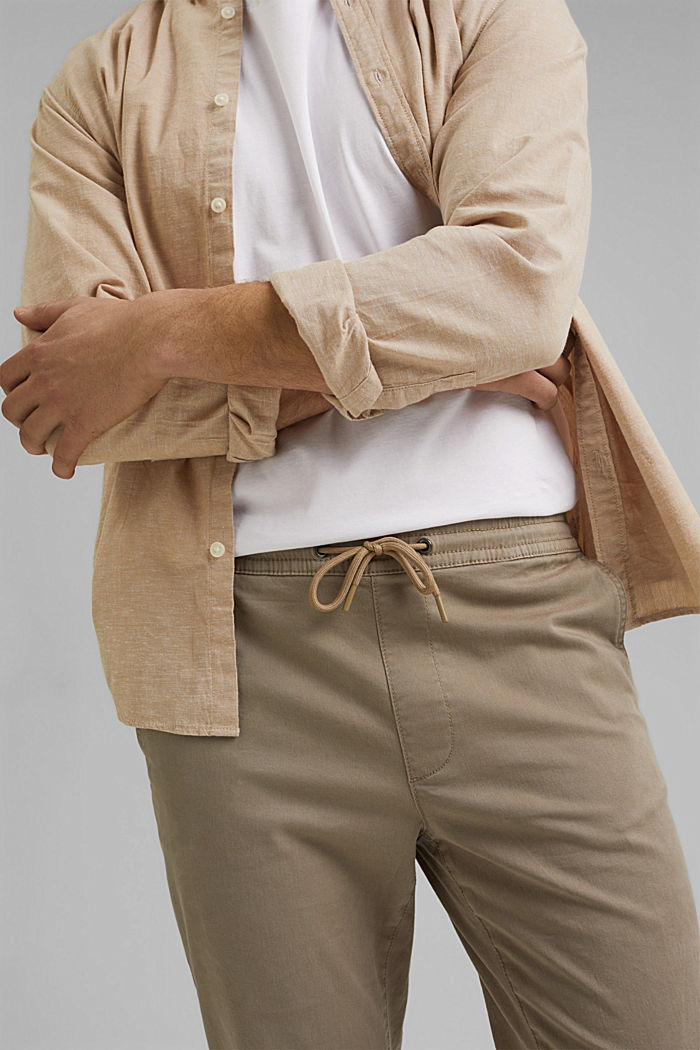 Jogg-Chino aus Organic Cotton, LIGHT BEIGE, detail image number 2