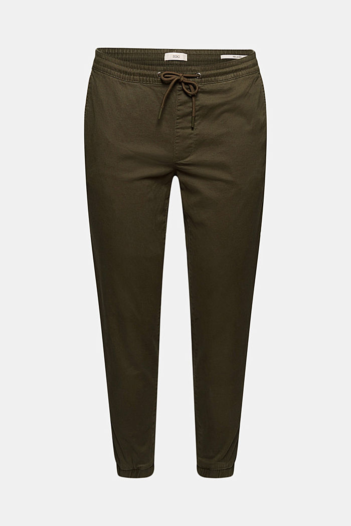 Tracksuit chinos made of cotton