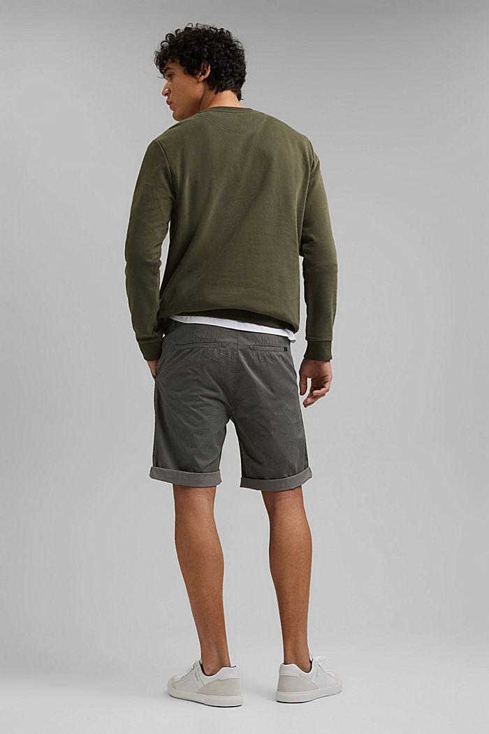 Print-Shorts aus Organic Cotton, DARK GREY, detail image number 3