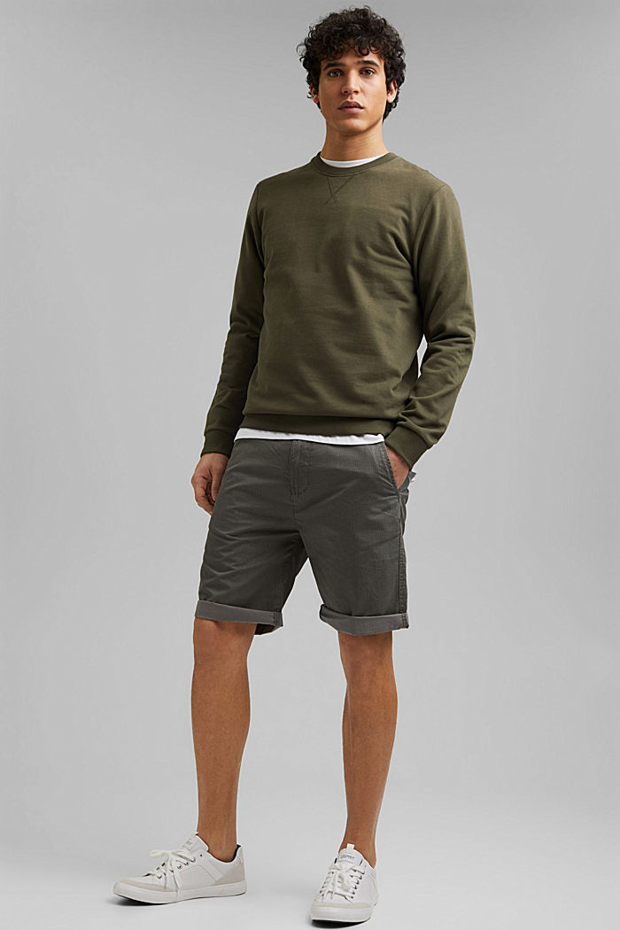 Print-Shorts aus Organic Cotton, DARK GREY, detail image number 1