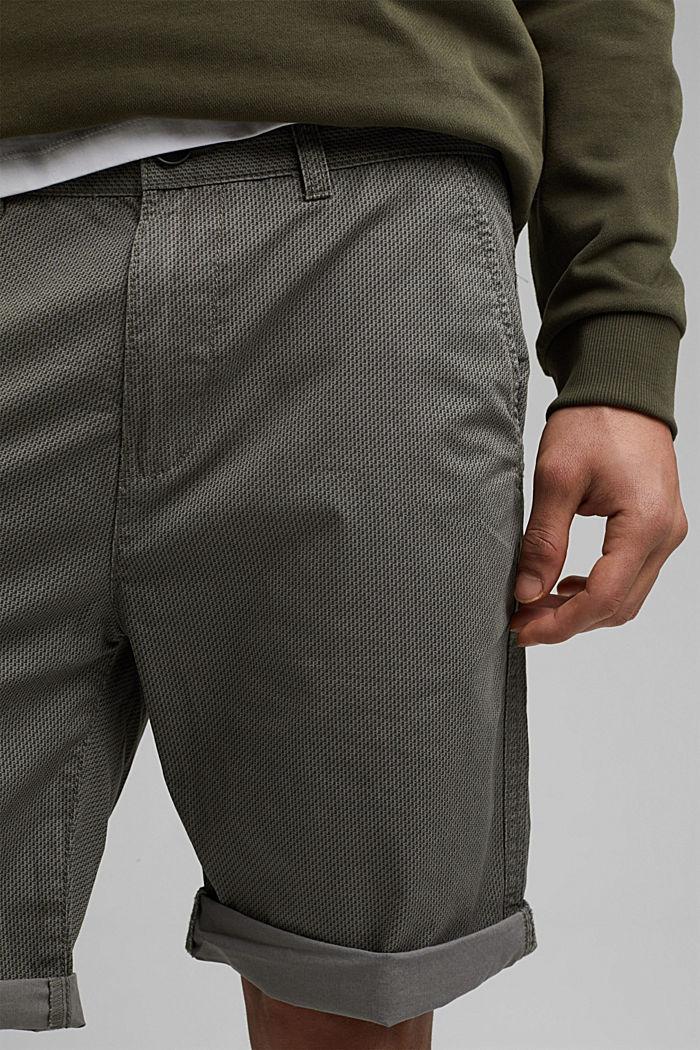 Print-Shorts aus Organic Cotton, DARK GREY, detail image number 2