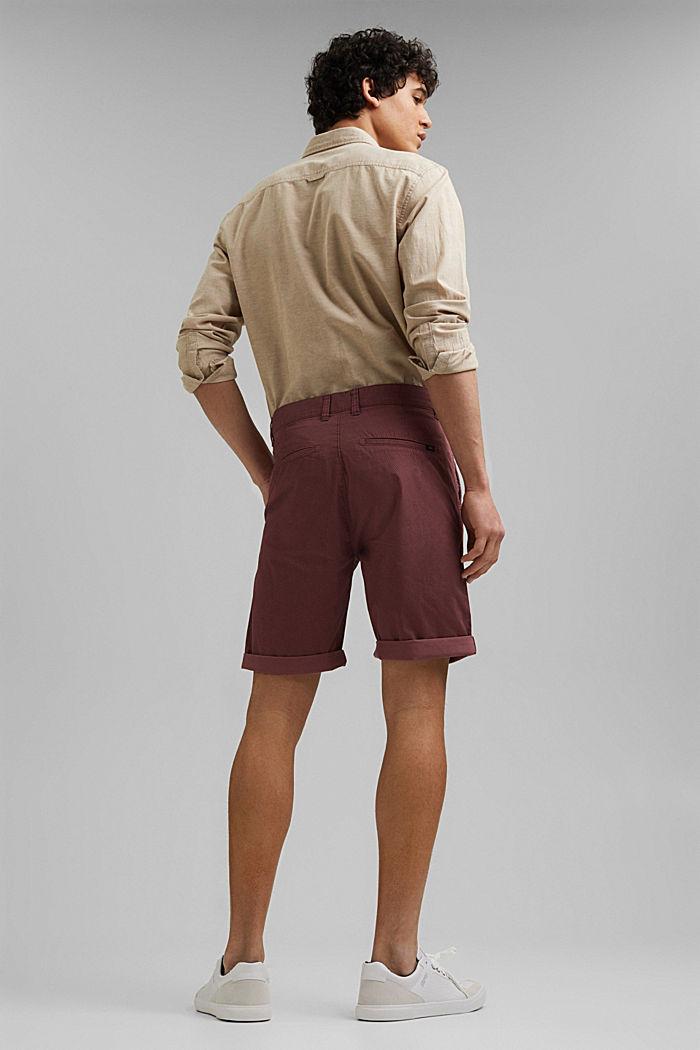 Shorts con stampa di cotone biologico, BERRY PURPLE, detail image number 3