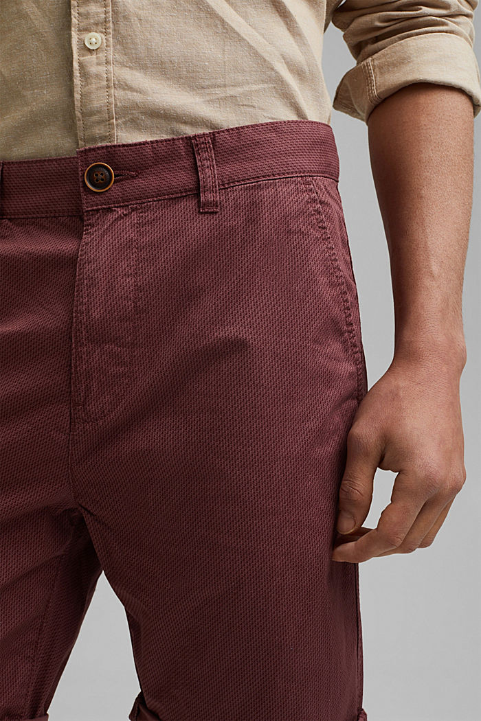 Shorts con stampa di cotone biologico, BERRY PURPLE, detail image number 2