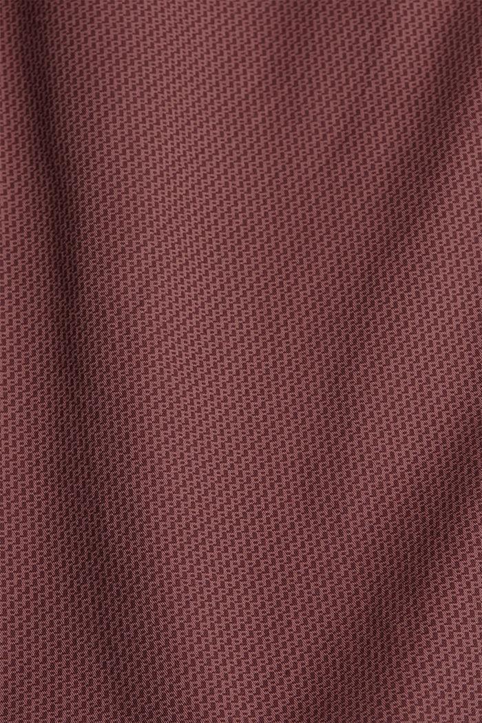Shorts con stampa di cotone biologico, BERRY PURPLE, detail image number 4