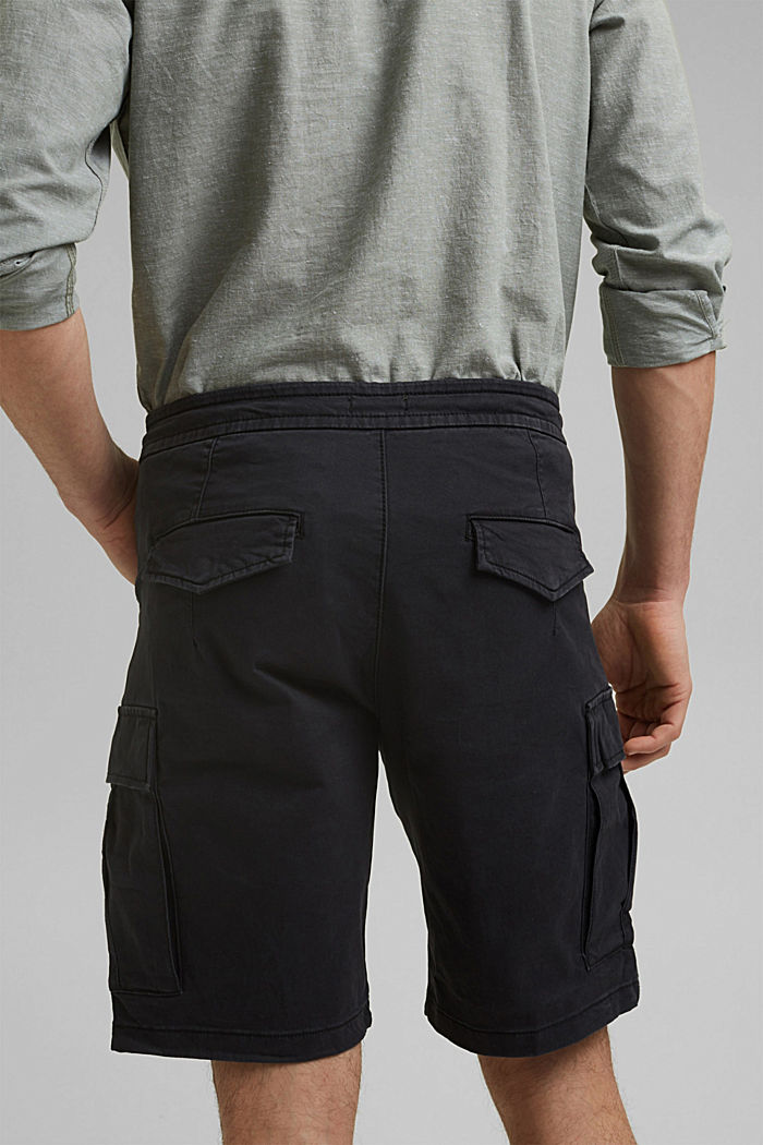 Cargo shorts with an elasticated waistband, ANTHRACITE, detail image number 5