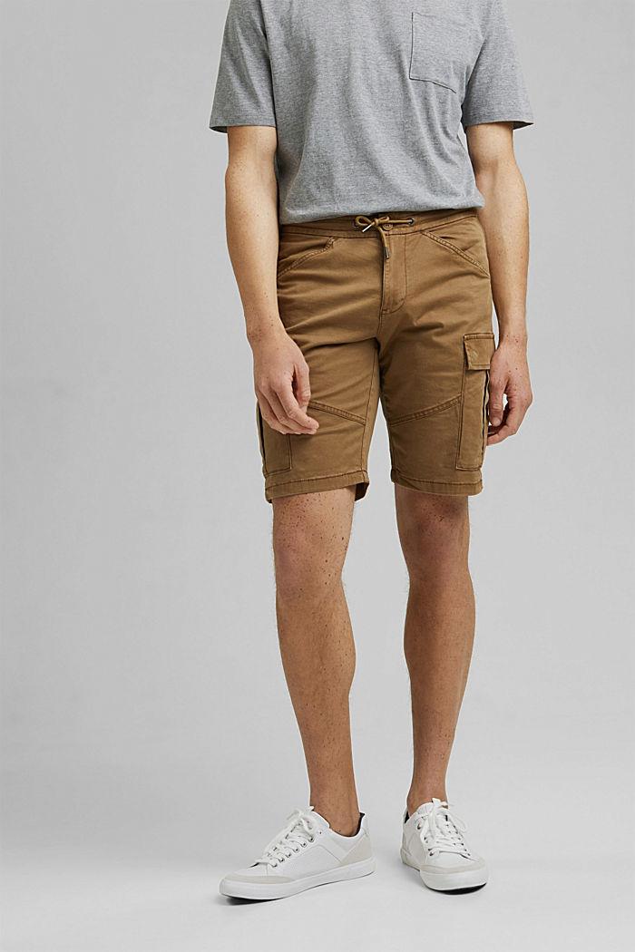 Cargo-Shorts mit Gummizugbund, CAMEL, detail image number 0