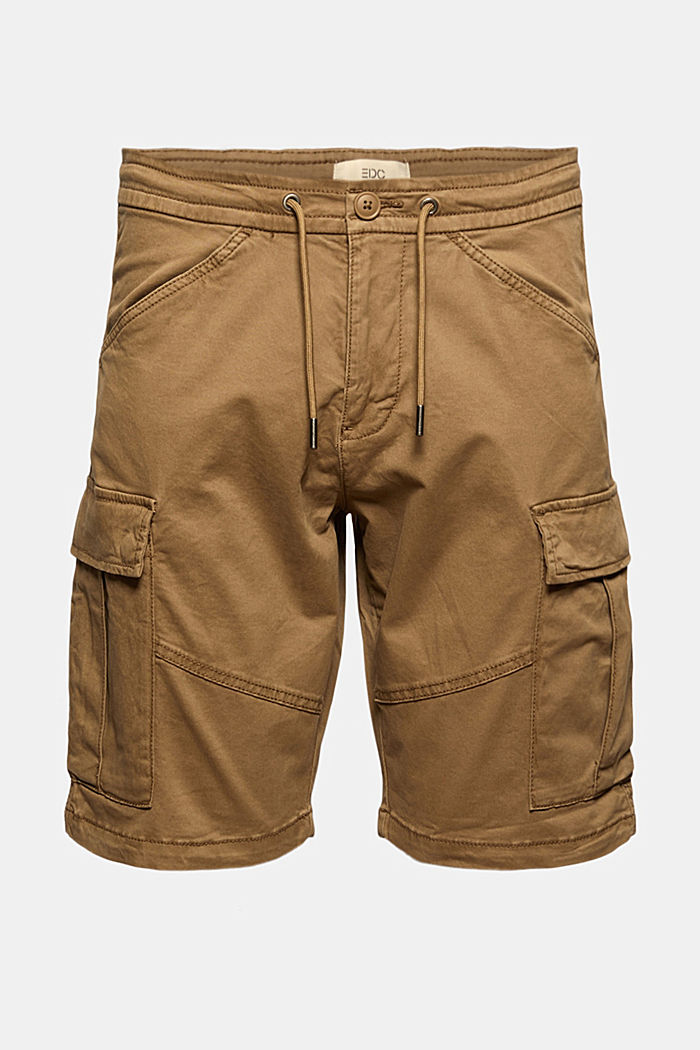 Cargo shorts with an elasticated waistband