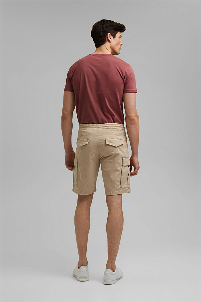 Cargo shorts with an elasticated waistband, LIGHT BEIGE, detail image number 3