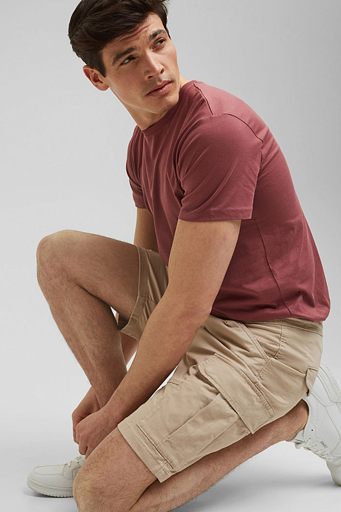 Cargo shorts with an elasticated waistband, LIGHT BEIGE, detail image number 6
