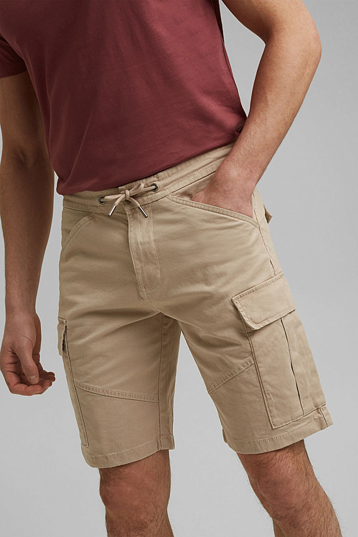 Cargo shorts with an elasticated waistband, LIGHT BEIGE, detail image number 2