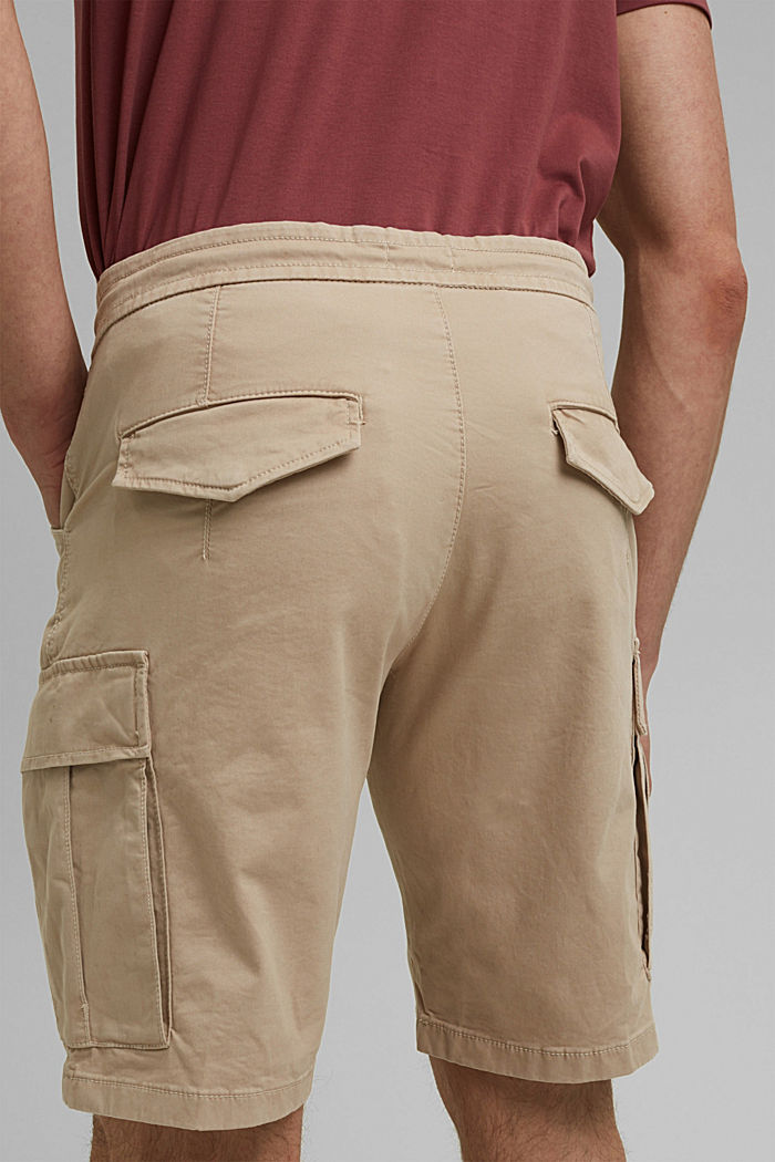 Cargo shorts with an elasticated waistband, LIGHT BEIGE, detail image number 5