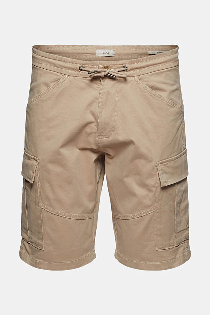 Cargo shorts with an elasticated waistband, LIGHT BEIGE, detail image number 7