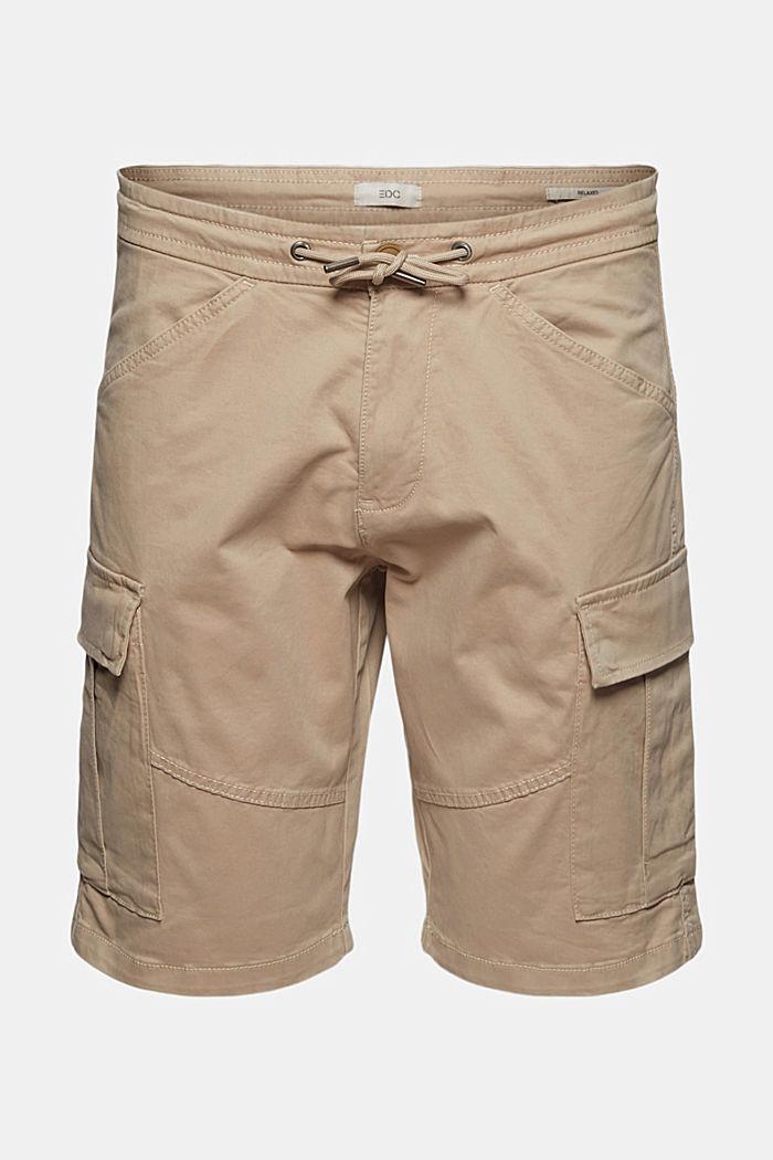 Cargo-Shorts mit Gummizugbund