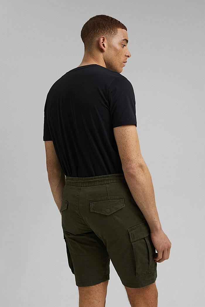 Cargo shorts with an elasticated waistband, DARK KHAKI, detail image number 3