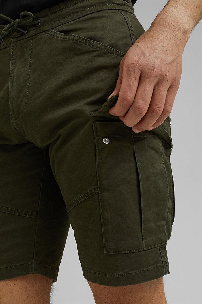 Cargo shorts with an elasticated waistband, DARK KHAKI, detail image number 2