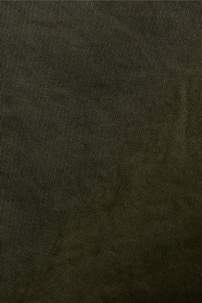 Cargo shorts with an elasticated waistband, DARK KHAKI, detail image number 4