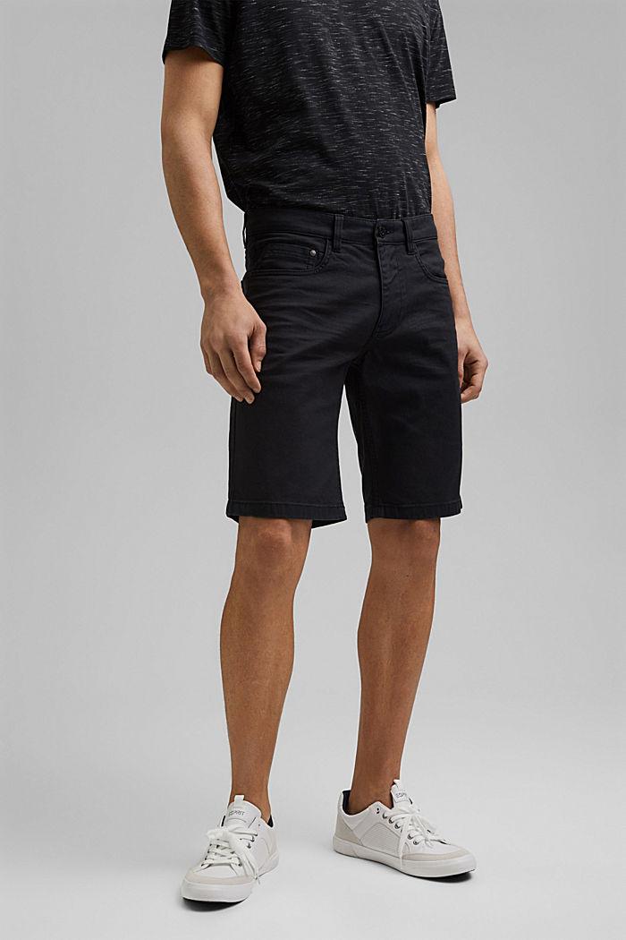Twill-Shorts aus Baumwollstretch