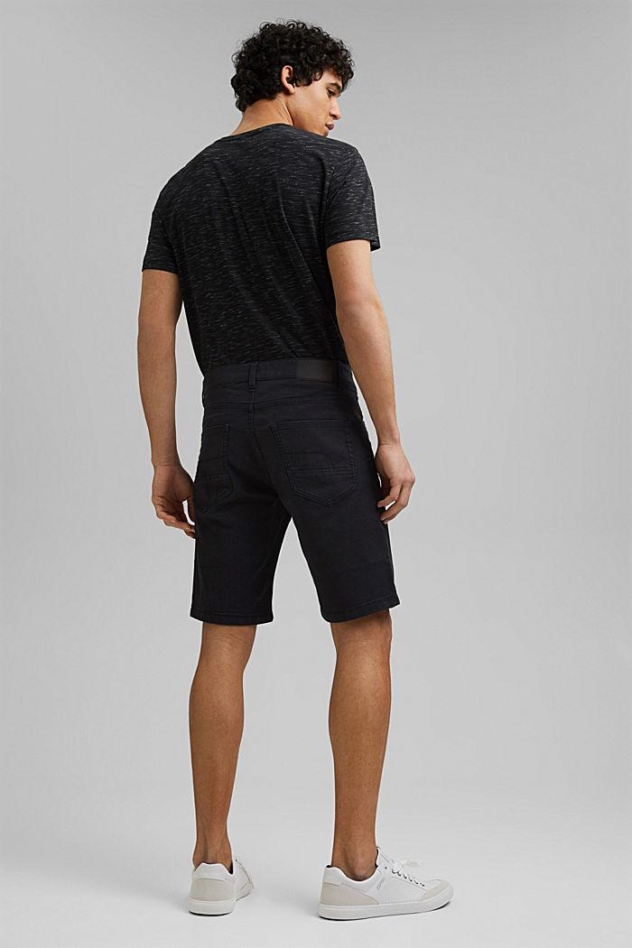 Short en twill en coton stretch, BLACK, detail image number 3