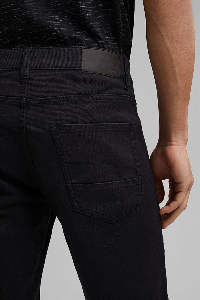 Short en twill en coton stretch, BLACK, detail image number 5