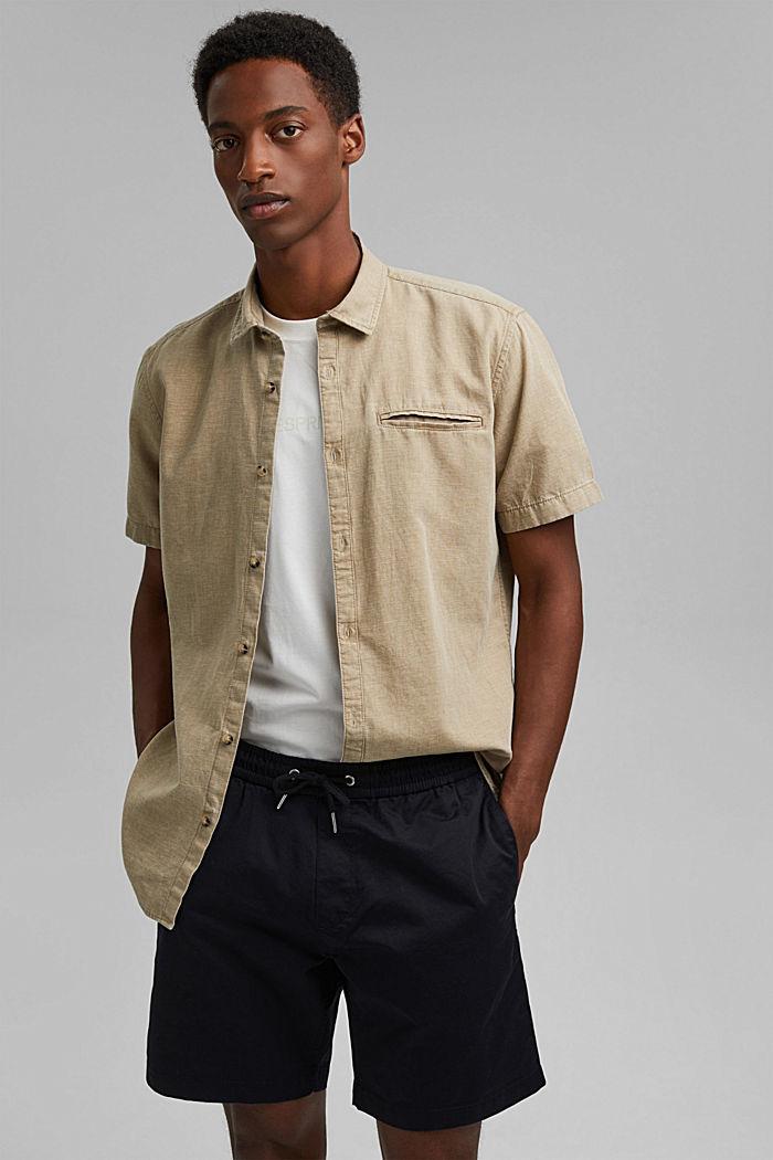 Shorts med dragskolinning, 100% ekobomull